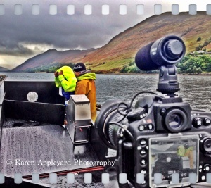 Then, the most wonderful assignment, the McNikon & I were out at Sea! Live Filming in battering wind & rain, whilst stood on a scaffold, on a raft, was an experience I will not forget!