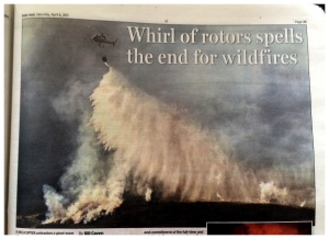 But, every cloud has silver lining! My Helicopter image, made the BBC news, a half page spread in the Mail & other local press ...